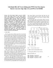 Space Vector PWM Method For Ultra Sparse  Matrix Converter Using FPGA XC3S500E