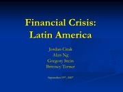 Financial Crisis Latin America
