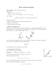 Work and line integrals study guide