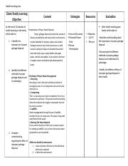 New Health Teaching Plan (1)