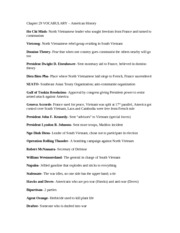COLD WAR vocabulary list - COLD WAR vocabulary list Chapter ...