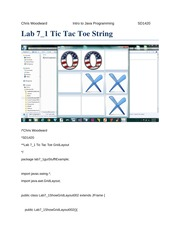 Lab 7_1 Tic Tac Toe