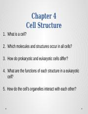 Chapter 4 A Tour of the Cell (2)