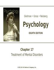 Chapter 17 - Treatment of Mental Disorders.ppt