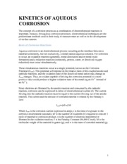 Notes on Basis of Corrosion Reactions