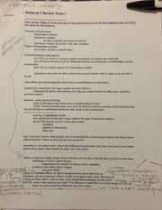 PSY 303 Midterm 3 Review Notes