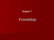 Chapter 7 Friendships 2