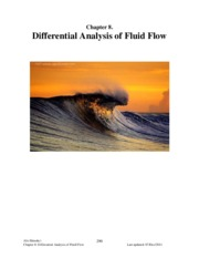 Section 8 - Differential Analysis of Fluid Flow