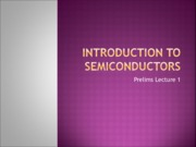 INTRODUCTION TO semiconductors