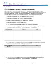 1.2.1.11 Worksheet - Research Computer Components - template.doc