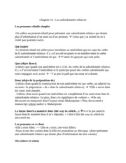 French Notes for Les pronoms relatifs simples