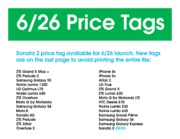 June 26 price tags