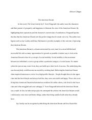 Gilligan The American Dream ESSAY
