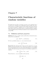 lecture 7  on Mathematichal Methods for financial Engineering