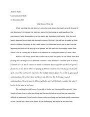 Oral History Writeup - Assignment