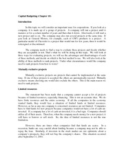 Review notes_Capital Budgeting(1)