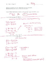 Math 125 Quiz 4 Key On Intermediate Algebra