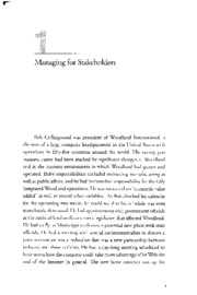 Managing for Stakeholders by Edward Freeman