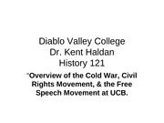 Civil Rights Movement & Free Speech Movement
