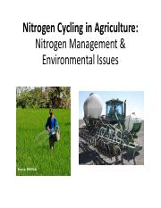 Lecture 13 _ Nitrogen Management & Environmental Issues(1).pdf