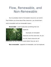 Flow, Renewable, and Non-Renewable.docx