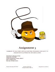Assignment 3 for AGE 1501 886112 Holtorf Summary.pdf