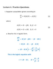 Lecture 4 Answers
