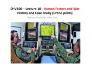 0HV100 - Lecture 10 - Human Factors and War