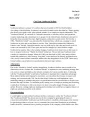 Case Note Southwest Airlines.docx