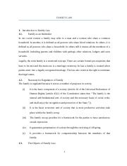 Consolidated Lecture Notes for Family Law-1