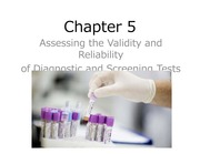 Chapter 5 Assessing the Validity and Reliability of Diagnostic and Screening Tests