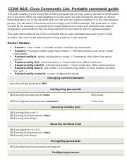 CCNA command cheat sheet docx - https/ccnav6 com/ccna-rs