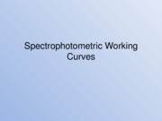 Spectrophotometric Working Curves