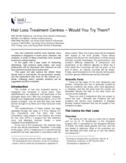 bgs final report_hair loss treatment centres