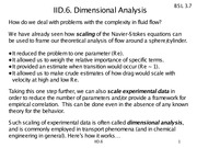 IID-6 Dimensional analysis