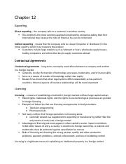 INTL MKT FINAL STUDY GUIDE