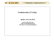 Fundamentals of Testing