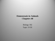 Topic 18 Homeostasis chapt40 rev 1-16-11