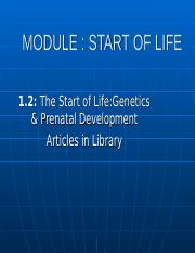 CHAPTER1.2  START of LIFE DEV