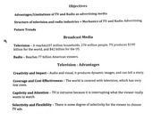 Broadcast Media - Television