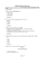 CHEM 102 EXAM 1 WINTER 07-08 - with answers