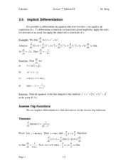Calculus Notes 7E 3.5