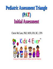 PAT Initial Assessment PPT 2019 ppt - Pediatric Assessment Triangle
