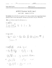 MTH132_Test3_Solution