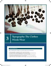 CGD 218 - Chapter 3 - Typography-The Clothes Words Wear