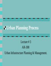 Urban Planning Process lecture 3