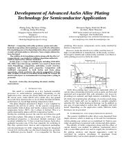 20140630 Development of Advanced AuSn Alloy Plating Technology for Semiconductor Application.doc