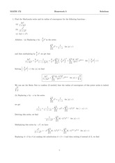 MATH 172 Spring 2014 Homework 5 Solutions