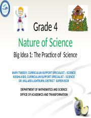 SC.4.N.2.1-SC.4.3.1 - Practicing Science - Process Skills