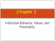 Lecture 2 (Chapter 2 Values, Personality)